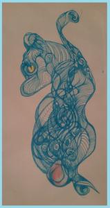 Uitgewerkte tekenkrabbels